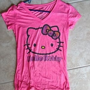Sanrio Hello Kitty Shirt Top Tee Medium Pink